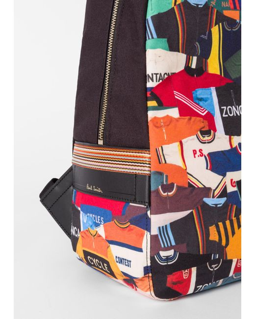 ... Lyst Paul Smith - Multicolor  cycling Jersey  Print Canvas Backpack for  Men ... 1ae7fb63d