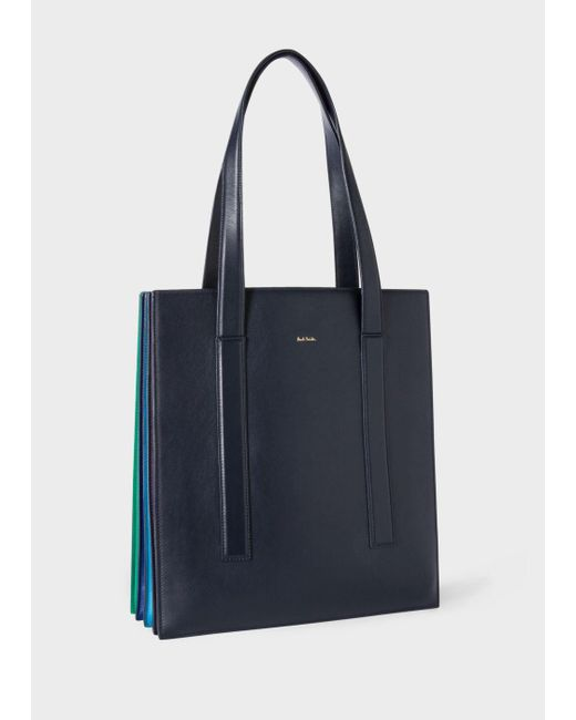 Paul Smith | Blue Women's Navy 'concertina' Tote Bag | Lyst