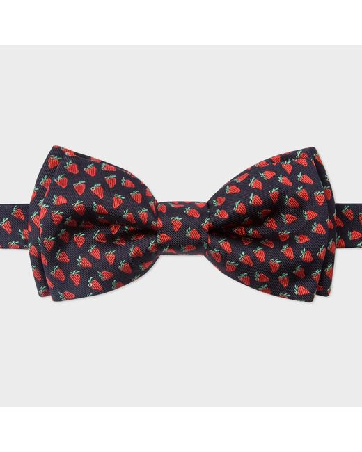 Paul Smith | Men's Red Strawberry Pattern Silk Bow Tie for Men | Lyst