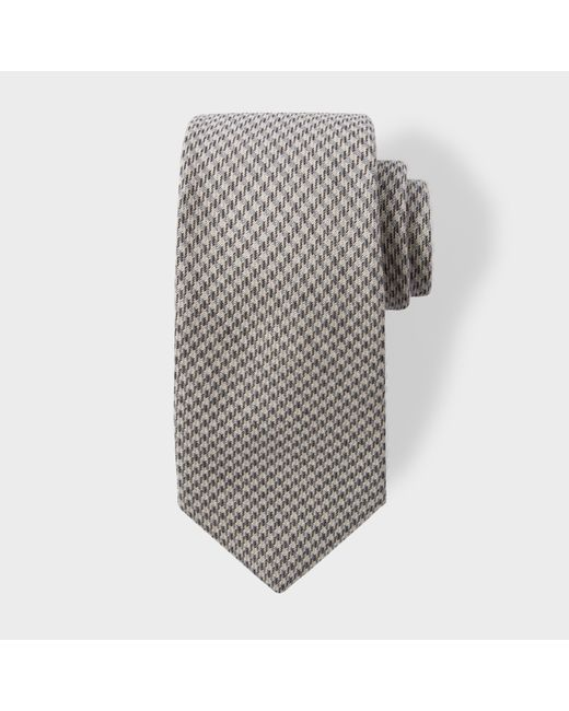 Paul Smith | Gray Men's Grey Dogtooth Pattern Wool-blend Tie for Men | Lyst