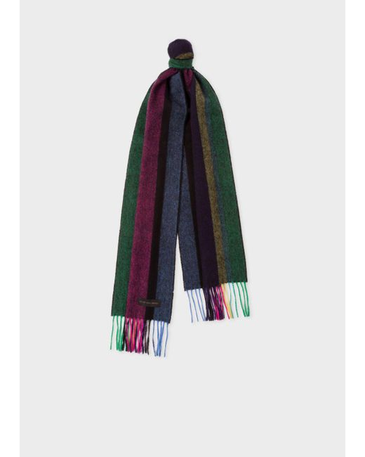 Paul Smith | Multicolor Men's 'cycle Stripe' Lambswool Scarf | Lyst