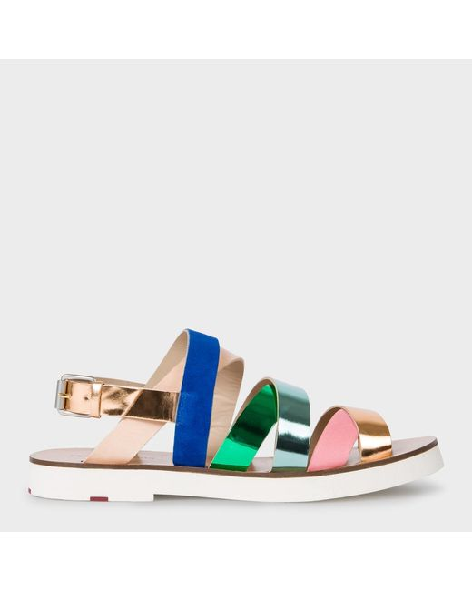 Paul Smith | Blue Women's Multi-colour Leather 'rio' Sandals | Lyst