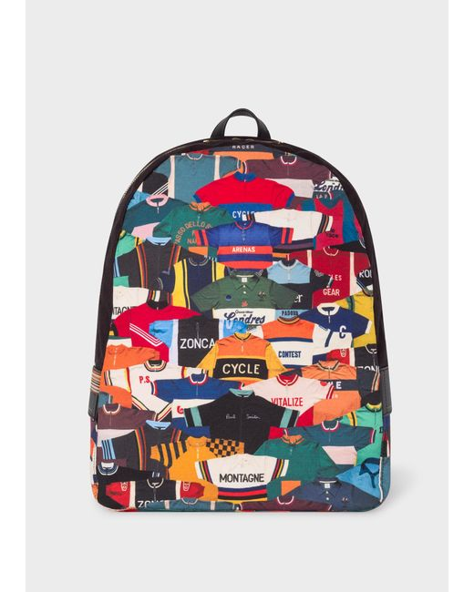 Paul Smith - Multicolor Sac À Dos 'Cycling Jersey' En Toile for Men - Lyst