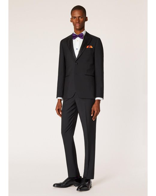 Paul Smith - The Soho - Tailored-fit Black Wool-mohair Evening Suit for Men - Lyst