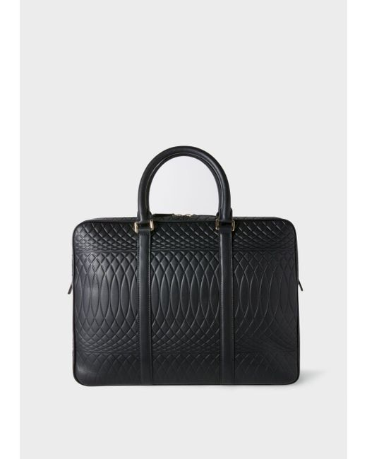 Paul Smith | No.9 - Black Leather Slim Business Folio | Lyst