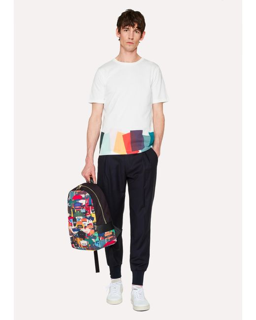 ... Lyst Paul Smith - Multicolor  Cycling Jersey  Print Canvas Backpack for  Men ... 3c5a35a47