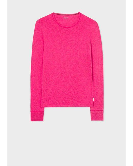 Paul Smith | Pink Men's Raspberry Long-sleeve Crew Neck Vest for Men | Lyst