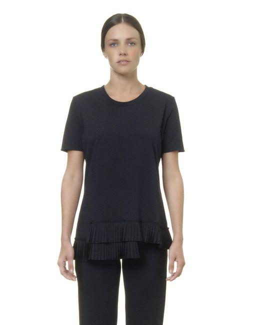 Alpha Studio - Blue Pleated T-shirt - Lyst