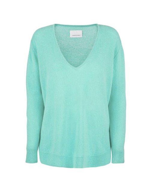 Samsøe & Samsøe - Green Boston V-neck Sweater - Lyst