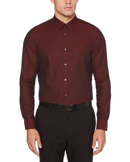Perry Ellis - Purple Iridescent Solid Scale Shirt for Men - Lyst