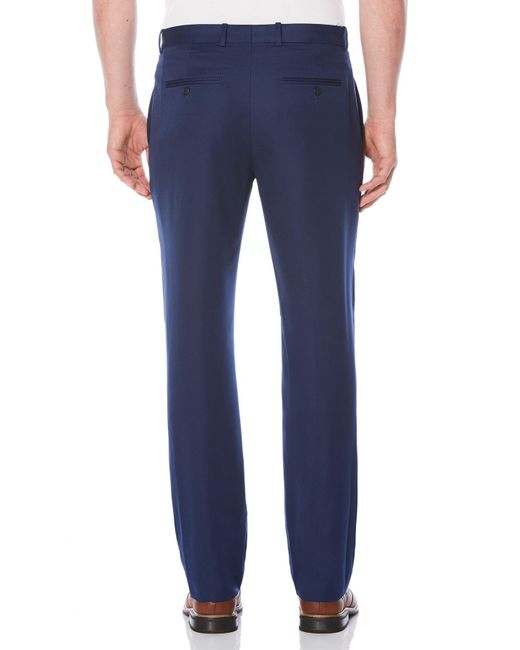 Perry Ellis   Blue Non-iron Tonal Stripe Flat Front Dress Pant for Men   Lyst