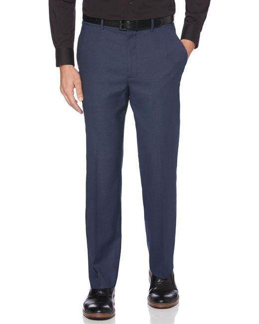 Perry Ellis - Blue Classic Fit Neat Portfolio Dress Pant for Men - Lyst