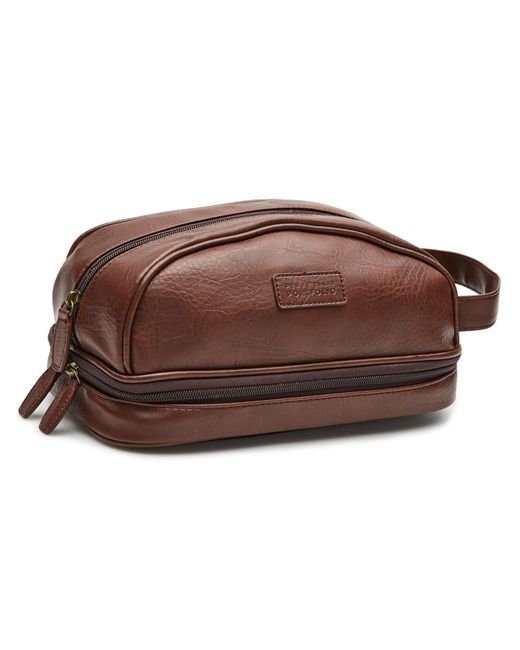 Perry Ellis - Brown Double Compartment Travel Kit for Men - Lyst