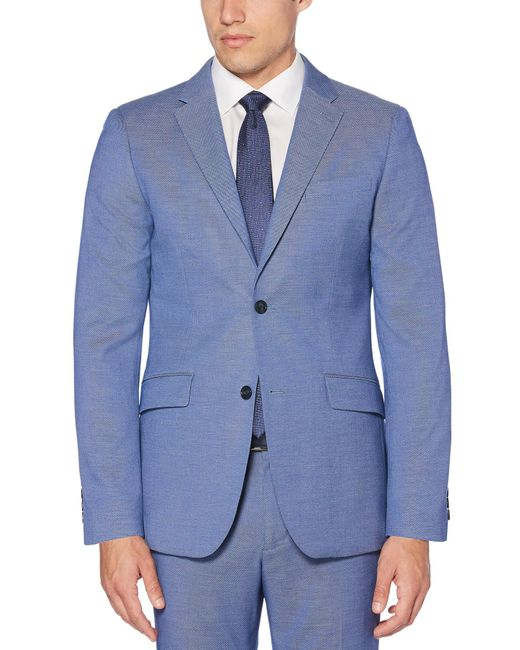 Perry Ellis - Blue Slim Fit Stretch Heather Neat Suit Jacket for Men - Lyst