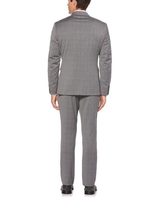 b3857e2319 ... Perry Ellis - Gray Slim Windowpane Suit Jacket for Men - Lyst ...