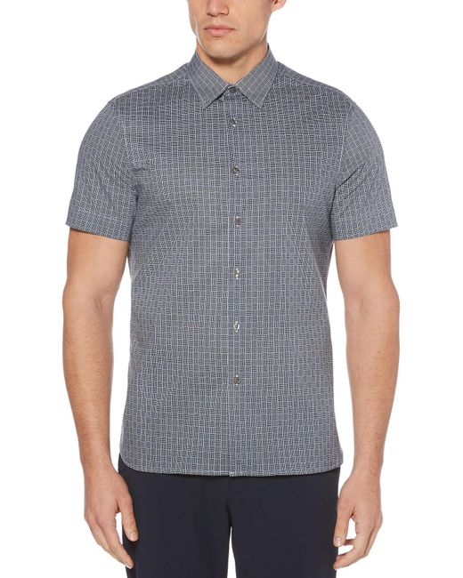 Perry Ellis - Gray Big & Tall Total Stretch Box Weave Shirt for Men - Lyst