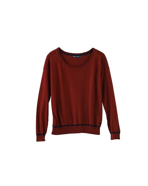 Petit Bateau | Red Women's Cotton Knit Sweater With A Cashmere Feel | Lyst
