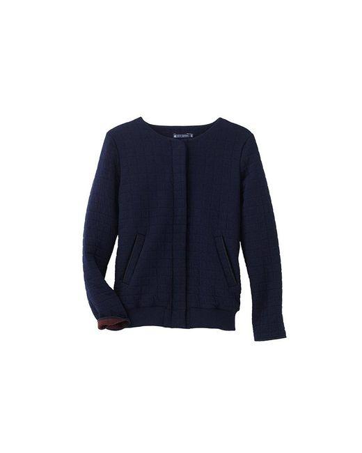 Petit Bateau | Black Women's Padded Tube Knit Jacket | Lyst