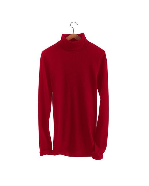 Petit Bateau | Red Women's Long-sleeved Fine Sweater In Iconic Cotton | Lyst
