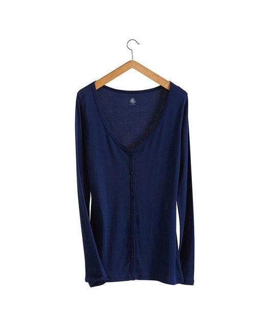 Petit Bateau | Blue Women's Light Cotton Cardigan | Lyst