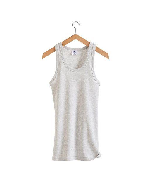 Petit Bateau   Gray Women's Iconic Cotton Vest Top   Lyst