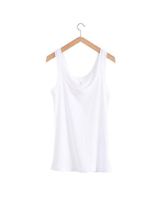 Petit Bateau   White Women's Light Cotton Vest Top   Lyst
