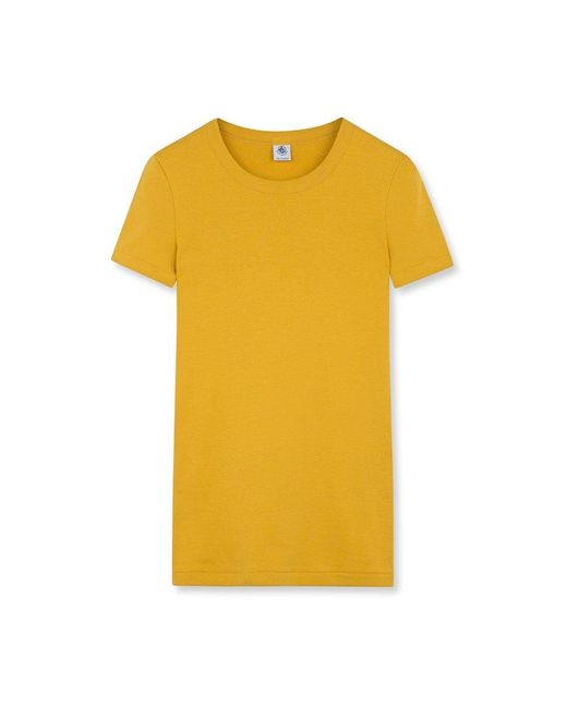 Petit Bateau   Yellow Women's Iconic Plain Round Neck T-shirt   Lyst