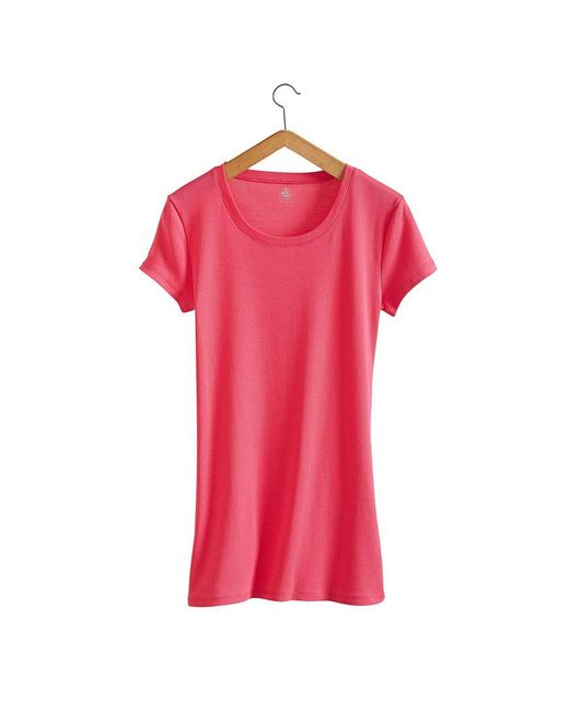 Petit Bateau | Pink Women's Round Neck Tee In New Cotton | Lyst