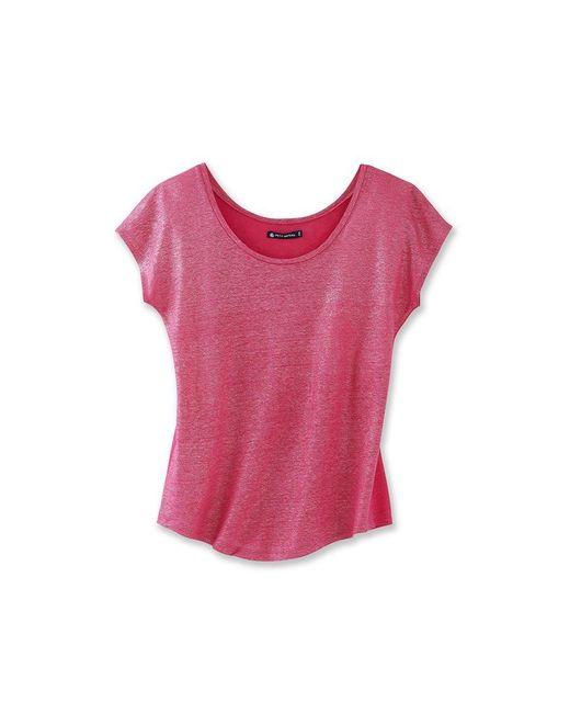 Petit Bateau   Pink Women's Lacquered Linen Tee   Lyst