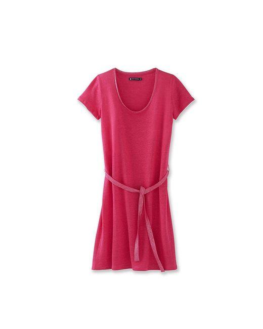 Petit Bateau | Pink Women's Lacquered Linen Dress | Lyst
