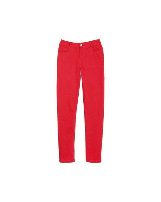Petit Bateau   Red Women's Slim Pants In Stretch Cotton Cloth   Lyst