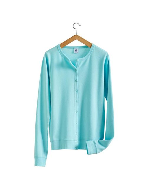 Petit Bateau | Blue Women's Essential Vintage Cotton Cardigan | Lyst