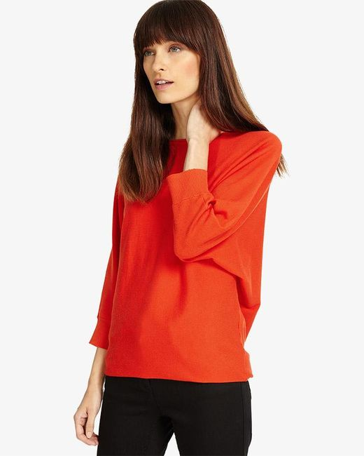 Phase Eight - Red Becca Smart Batwing Knitted Jumper - Lyst