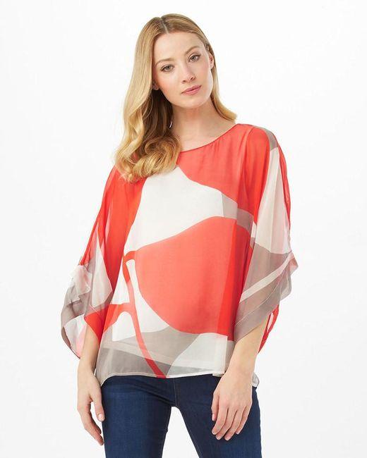 Phase Eight - Red Esmerelda Print Silk Blouse - Lyst
