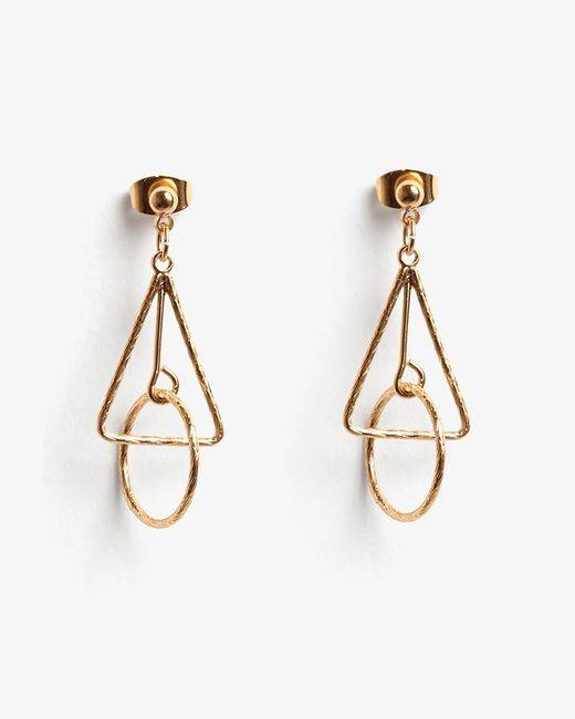 Phase Eight - Metallic Jasmine Mini Geo Drop Earrings - Lyst