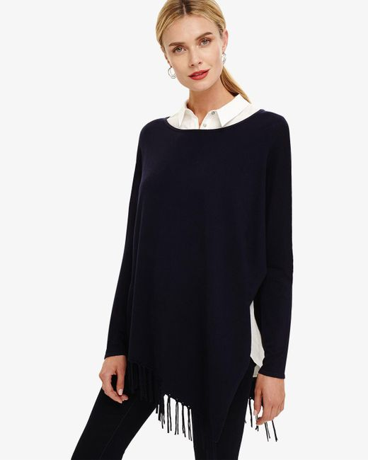 Phase Eight - Blue Navy Athena Tassel Knitted Jumper - Lyst