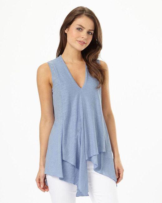 Phase Eight | Blue Maisie Linen Kaftan Top | Lyst