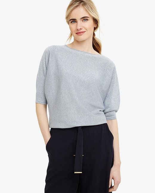 Phase Eight - Multicolor Becca Shimmer Smart Knit Top - Lyst