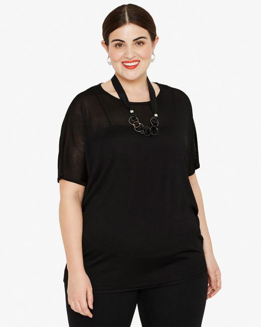 Phase Eight - Black Tina Necklace Knit Top - Lyst