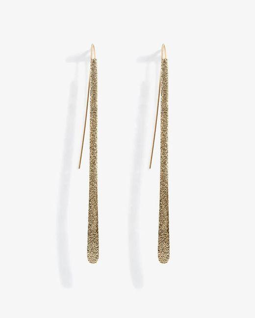 Phase Eight - Metallic Lilly Sand Blast Pull Through Earring - Lyst