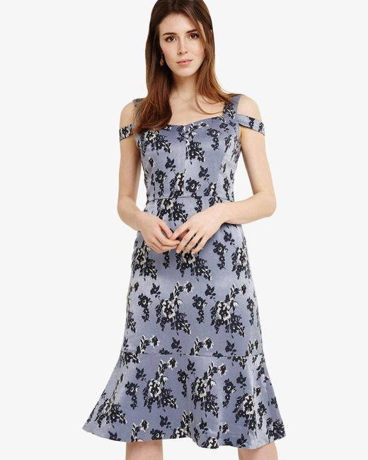 Phase Eight - Multicolor Persephone Dropped Shoulder Dress - Lyst