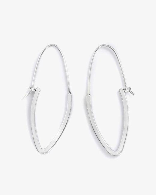 Phase Eight - Metallic Alexa Oval Hoop Earrings - Lyst
