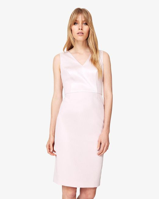Phase Eight - Pink Ora Bow Back Dress - Lyst
