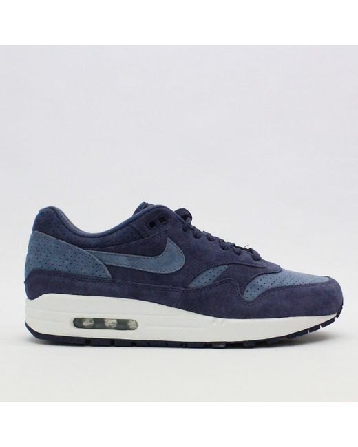 reputable site 10ab9 59d71 ... ireland nike trainers nike air max 1 premium indigo blue 875844 501 for  men lyst 3f7d1