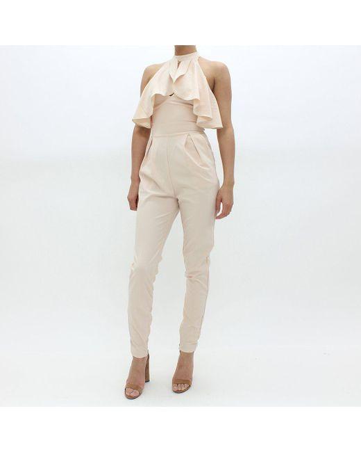 TFNC London - Natural Simi Jump Suit Beige - Lyst