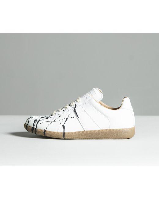 b2ef3bb852d9 Maison Margiela -  replica  Paint Drop Trainers White for Men - Lyst ...
