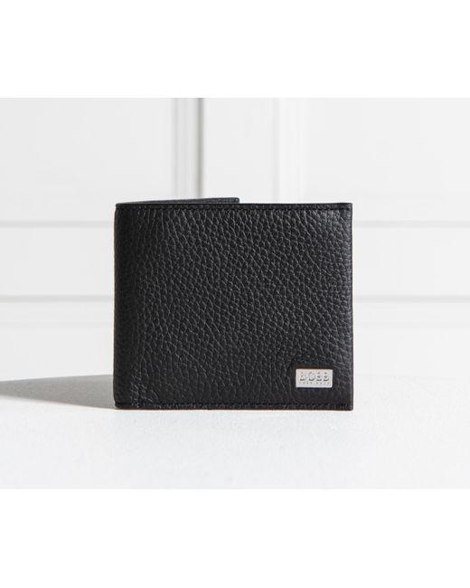 fa96f08a572 BOSS - 'crosstown_4 Cc' Billfold Leather Wallet Black for Men - Lyst ...