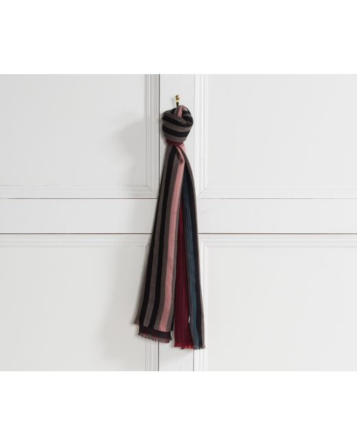 Paul Smith - New Stripe Scarf Red/multi for Men - Lyst