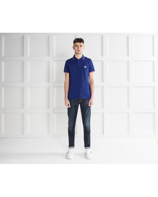 moncler royal blue t shirt