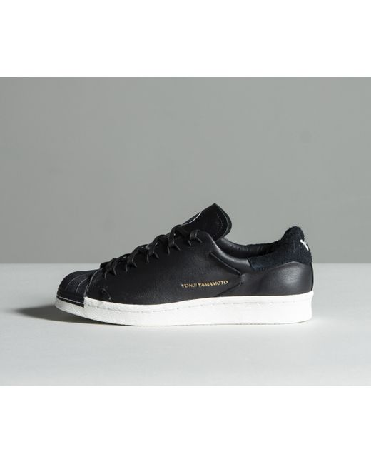 0cd15d2413 Y-3  super Knot  Low-top Leather Trainers Black in Black for Men - Lyst